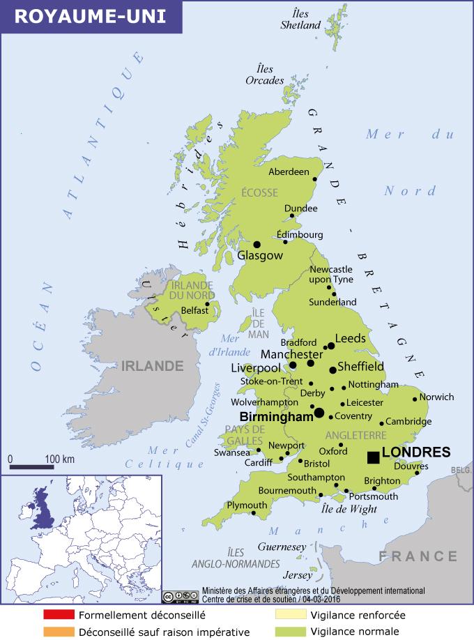 carte du royaume uni et noms des villes en anglais