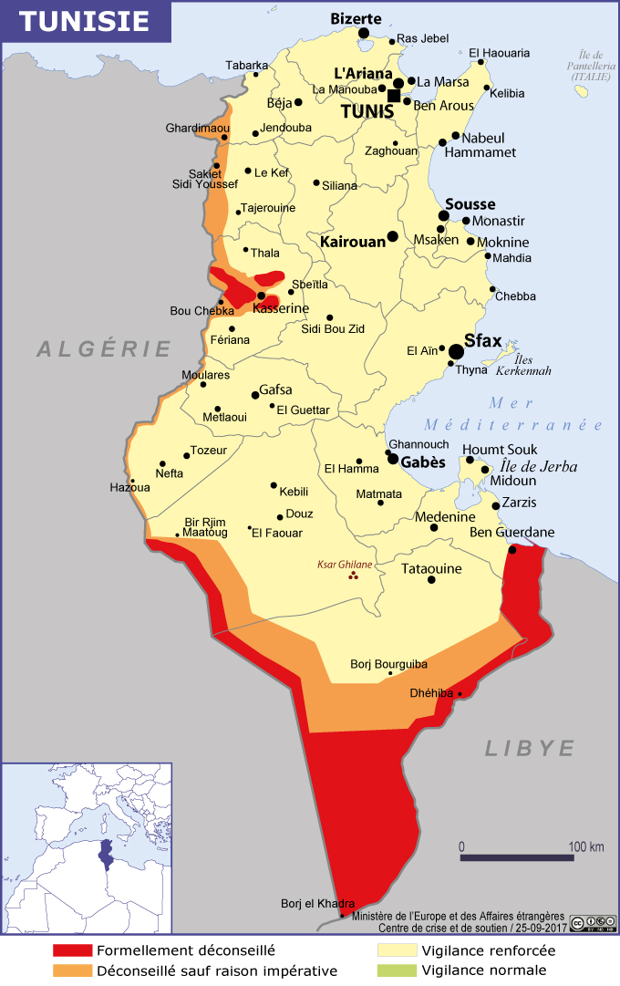 voyage tunisie france