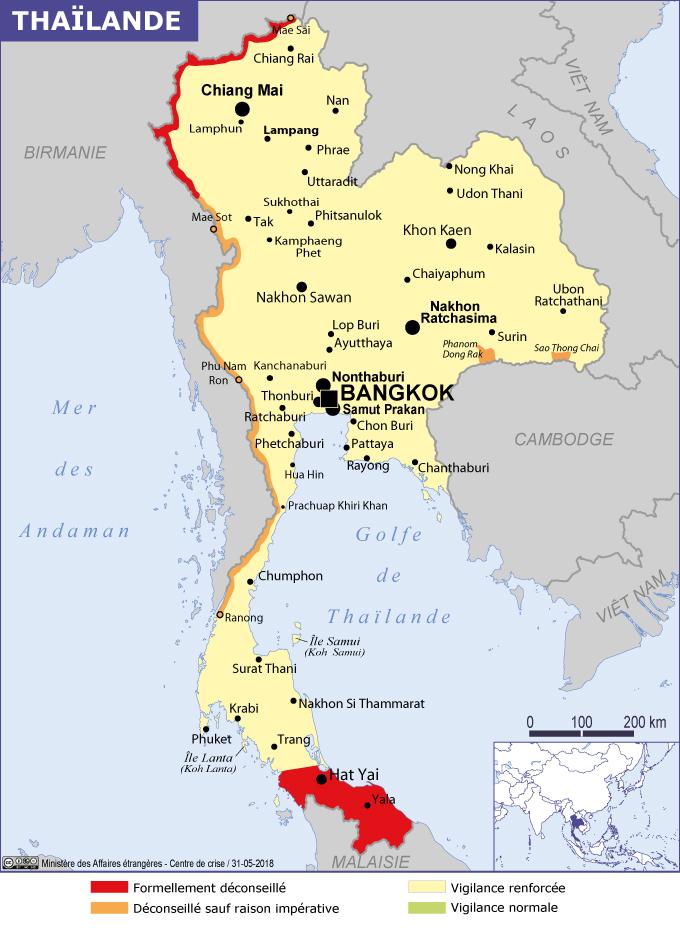 Conseils aux voyageurs - Thaïlande