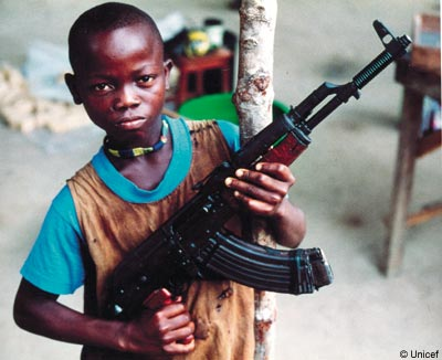 Child soldier in Chad