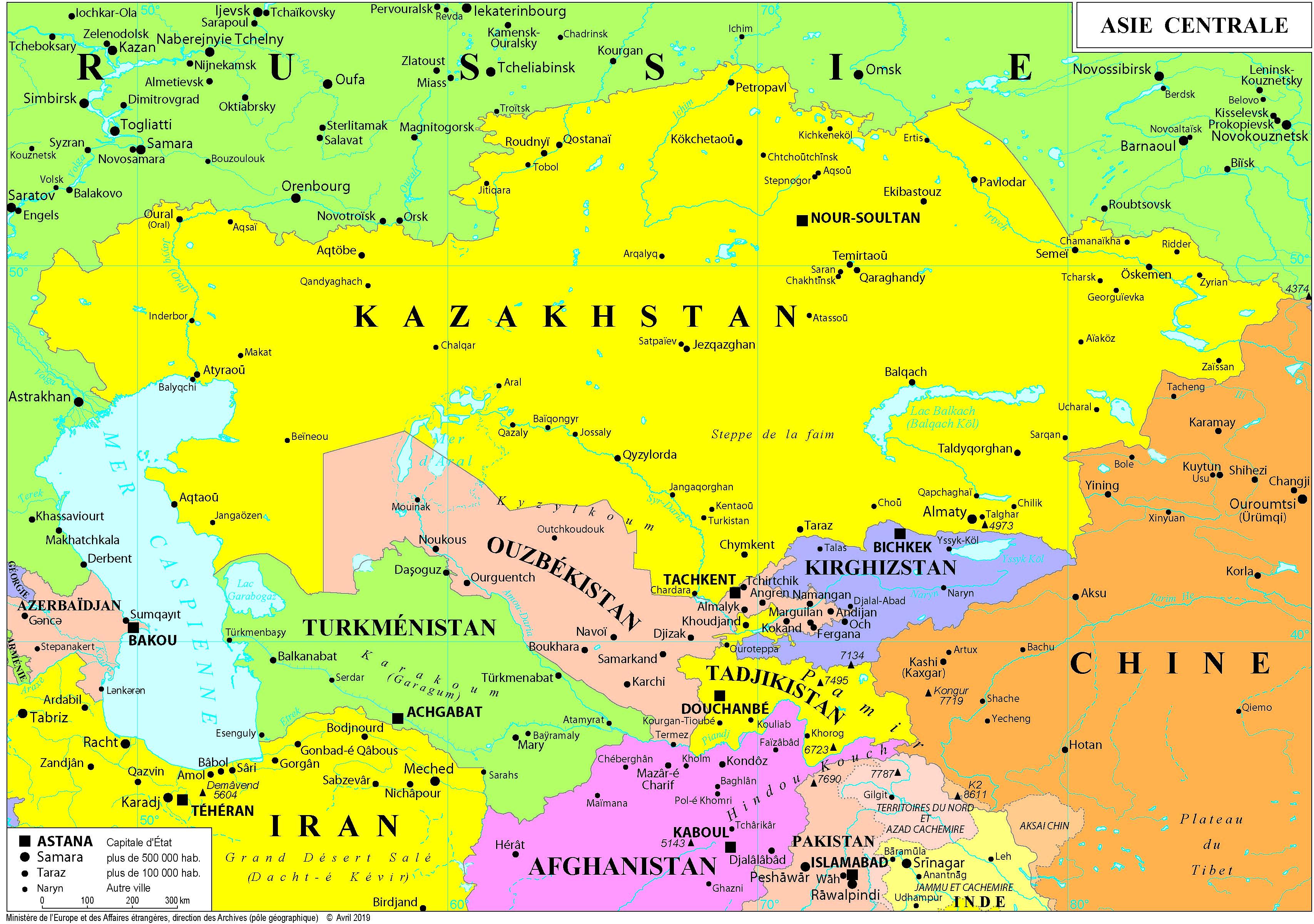 Fond Carte Asie Centrale.Asie Et Oceanie France Diplomatie Ministere De L Europe