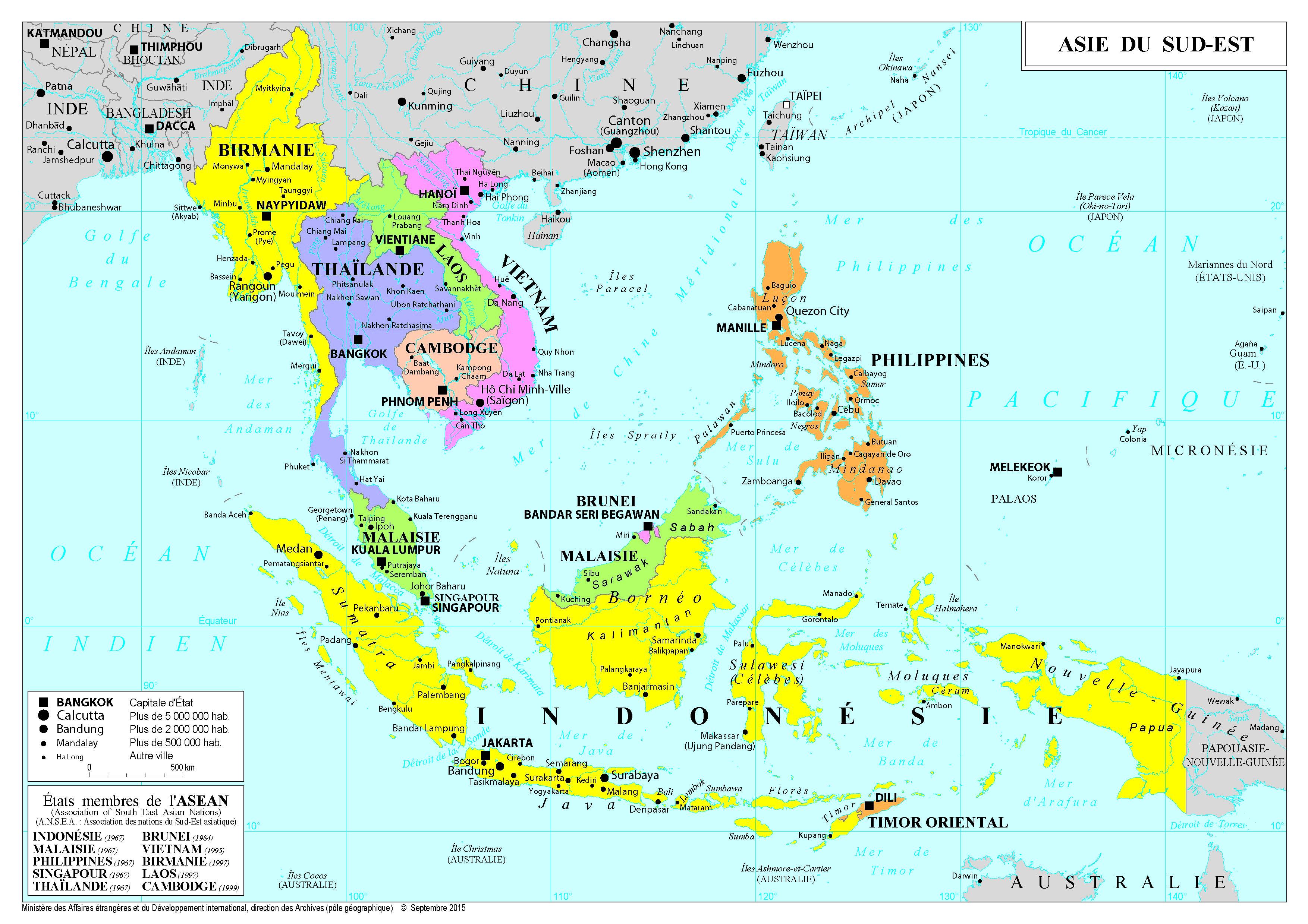Carte Touristique Asie.Asie Et Oceanie France Diplomatie Ministere De L Europe