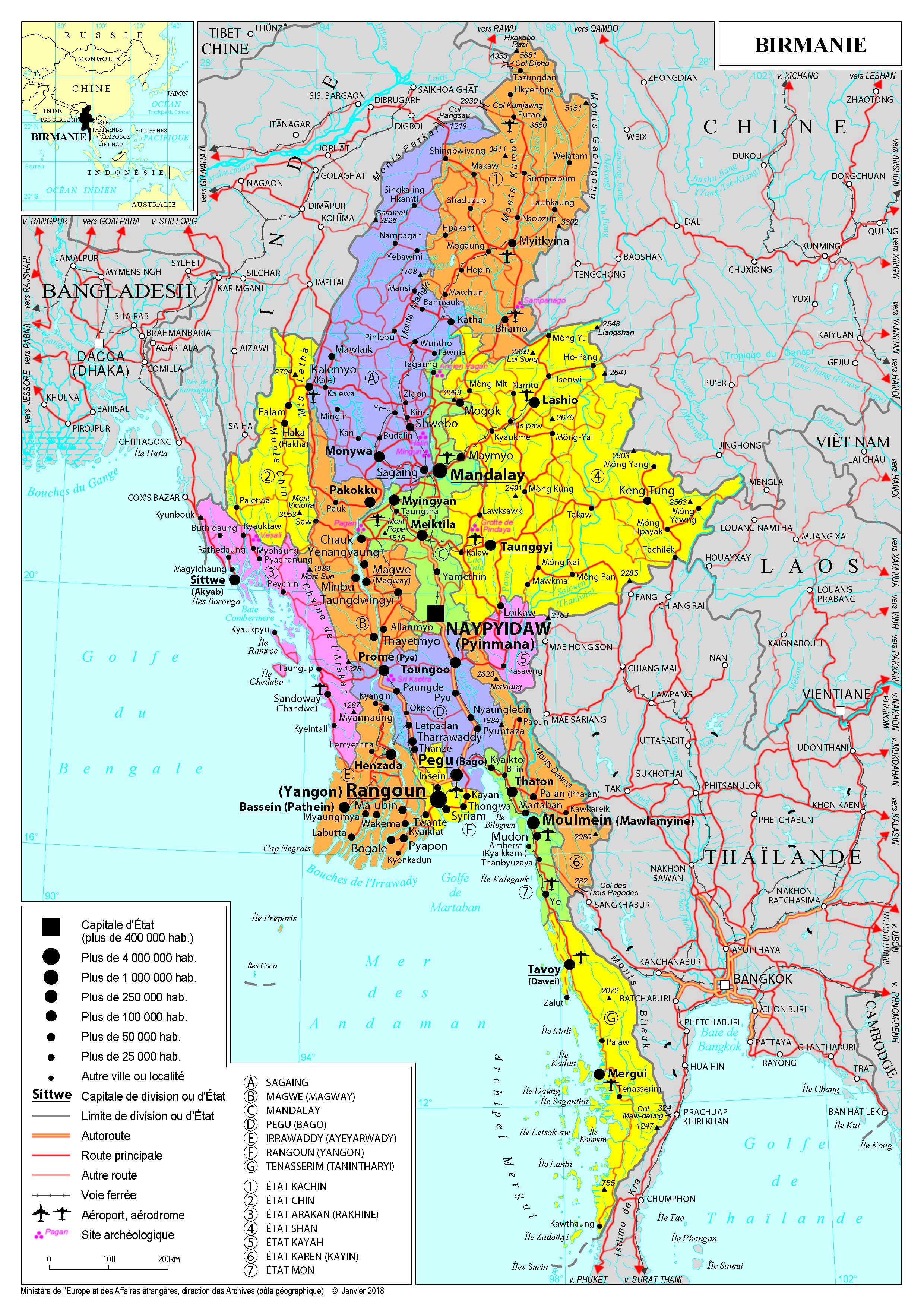 Moderne Présentation de la Birmanie - Ministère de l'Europe et des OQ-17
