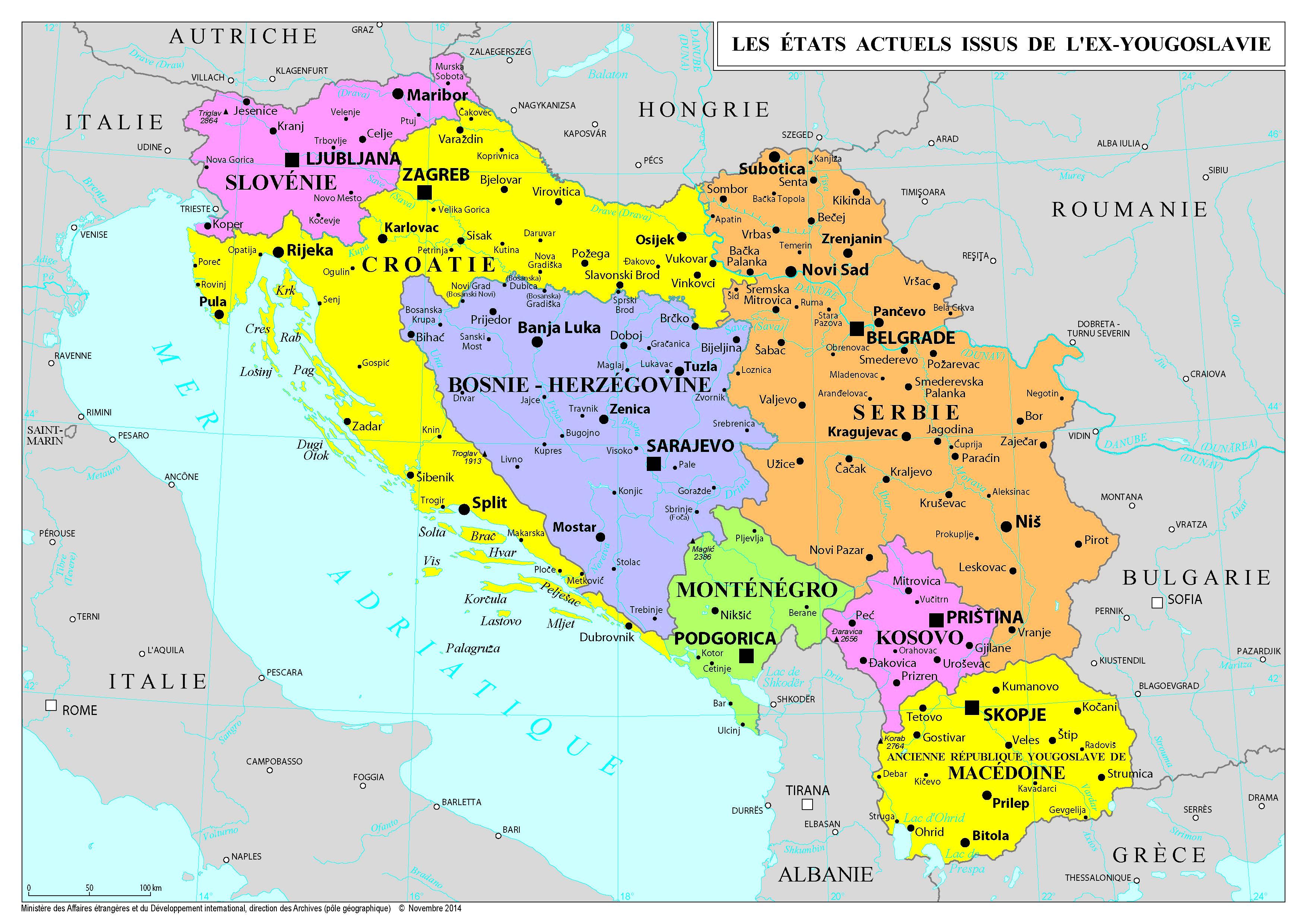 Ex Yougoslavie Carte.Europe Cartes De E A I France Diplomatie Ministere De