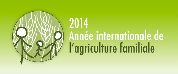Logo année internationale de l'agriculture familiale
