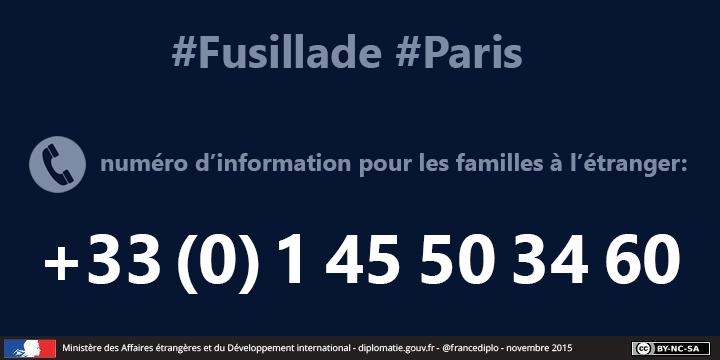 Numéro d'information pour les familles à l'étranger