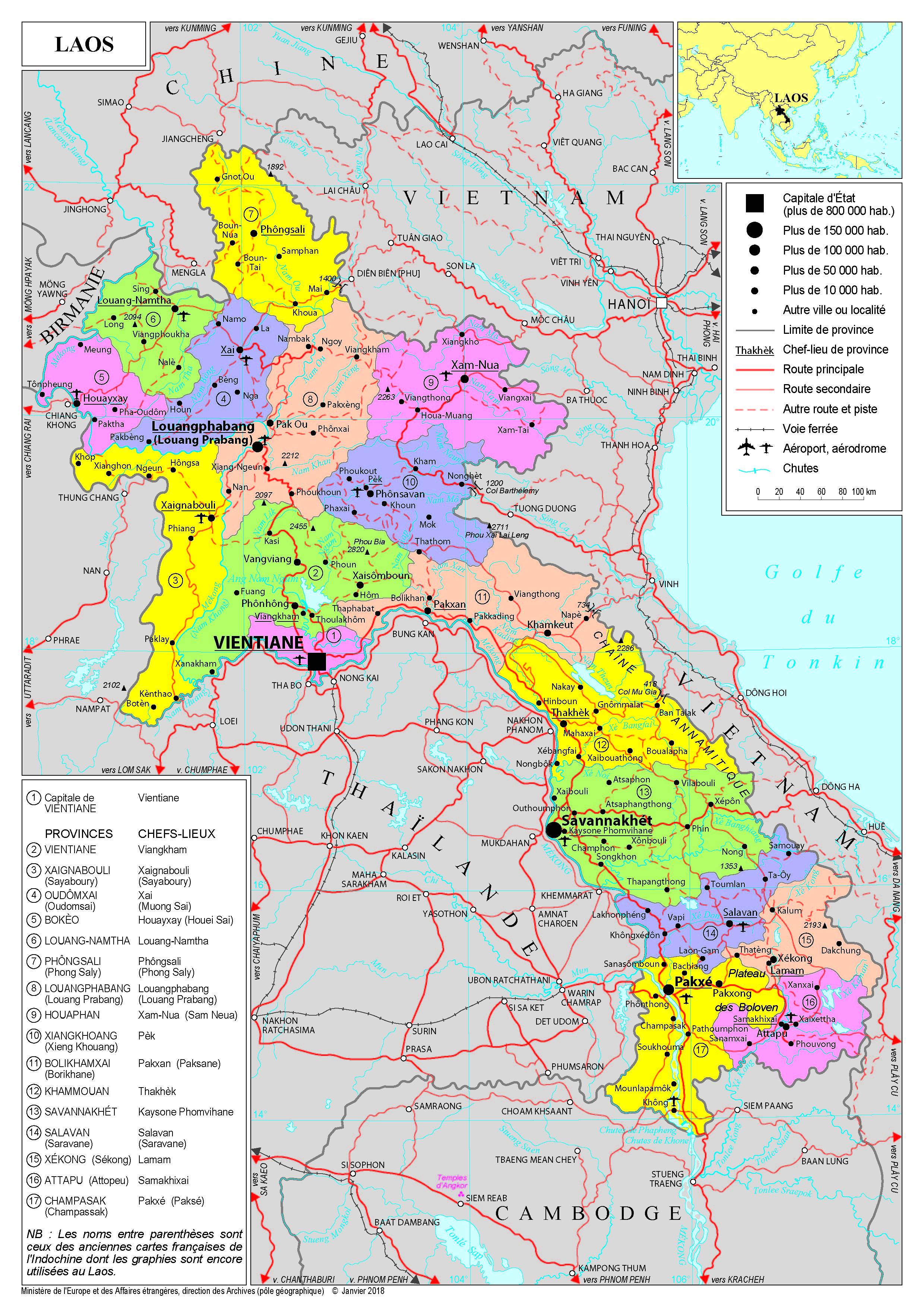 Carte Du Monde Laos.Presentation Du Laos