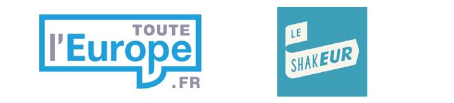 """Logos de Toute l'Europe et du """"Shakeur"""""""