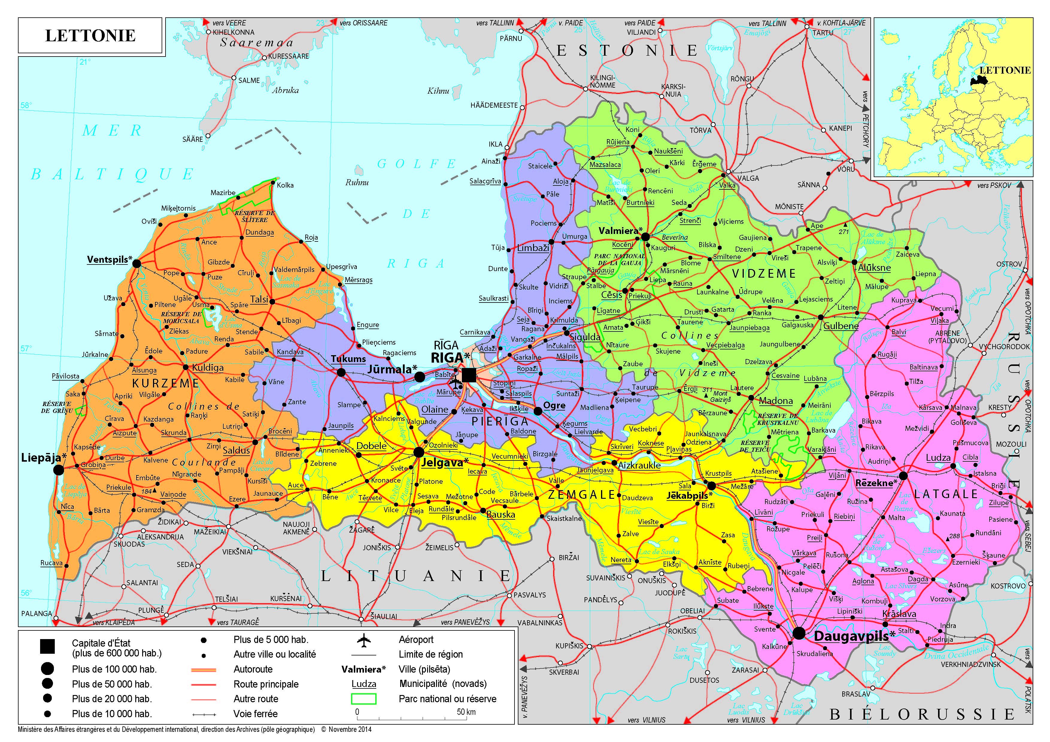 Europe   cartes de K à P   France Diplomatie   Ministère de l