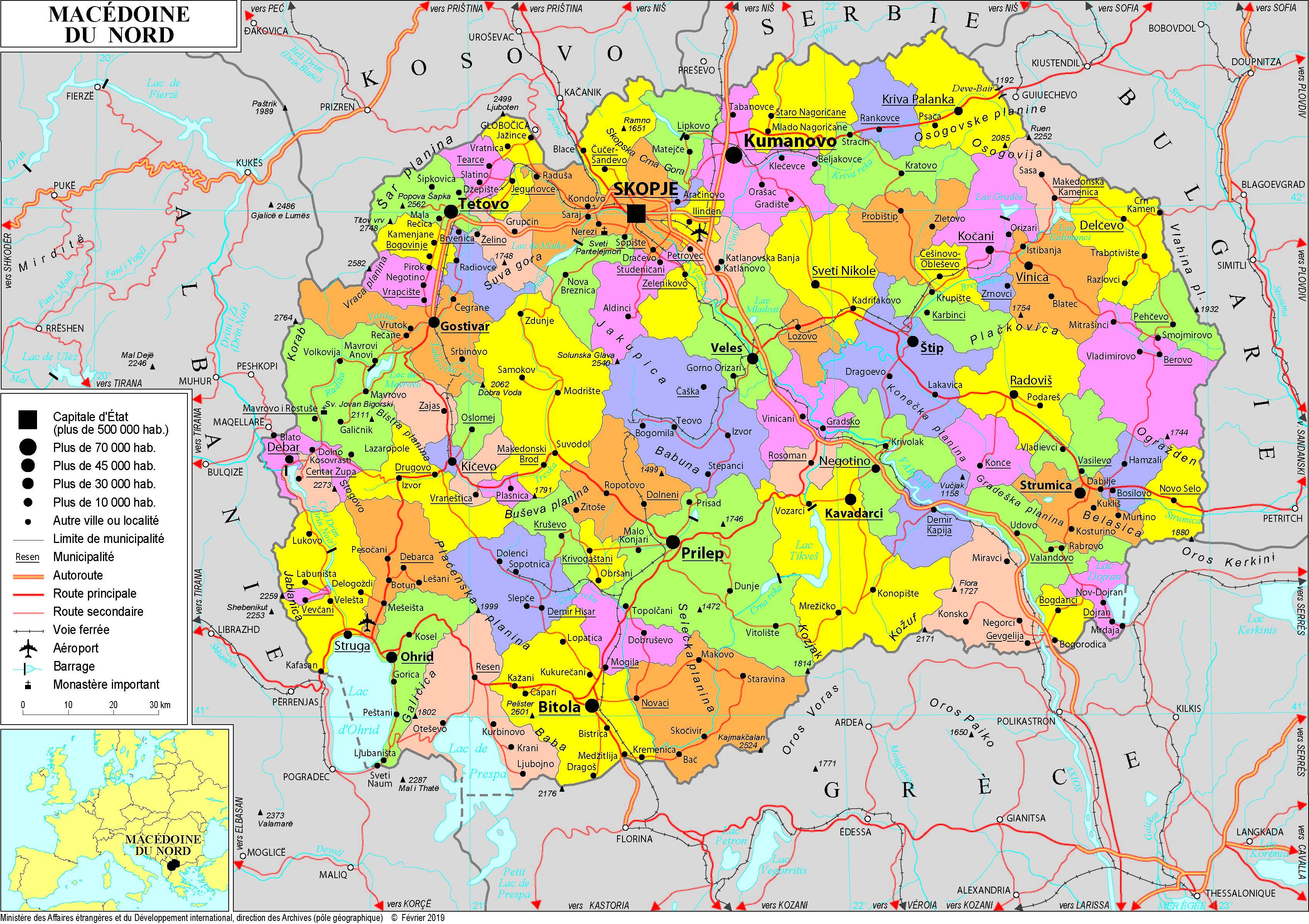 Carte Europe Du Nord En Francais.Macedoine Du Nord Histoire Patrimoine Cartes Documents