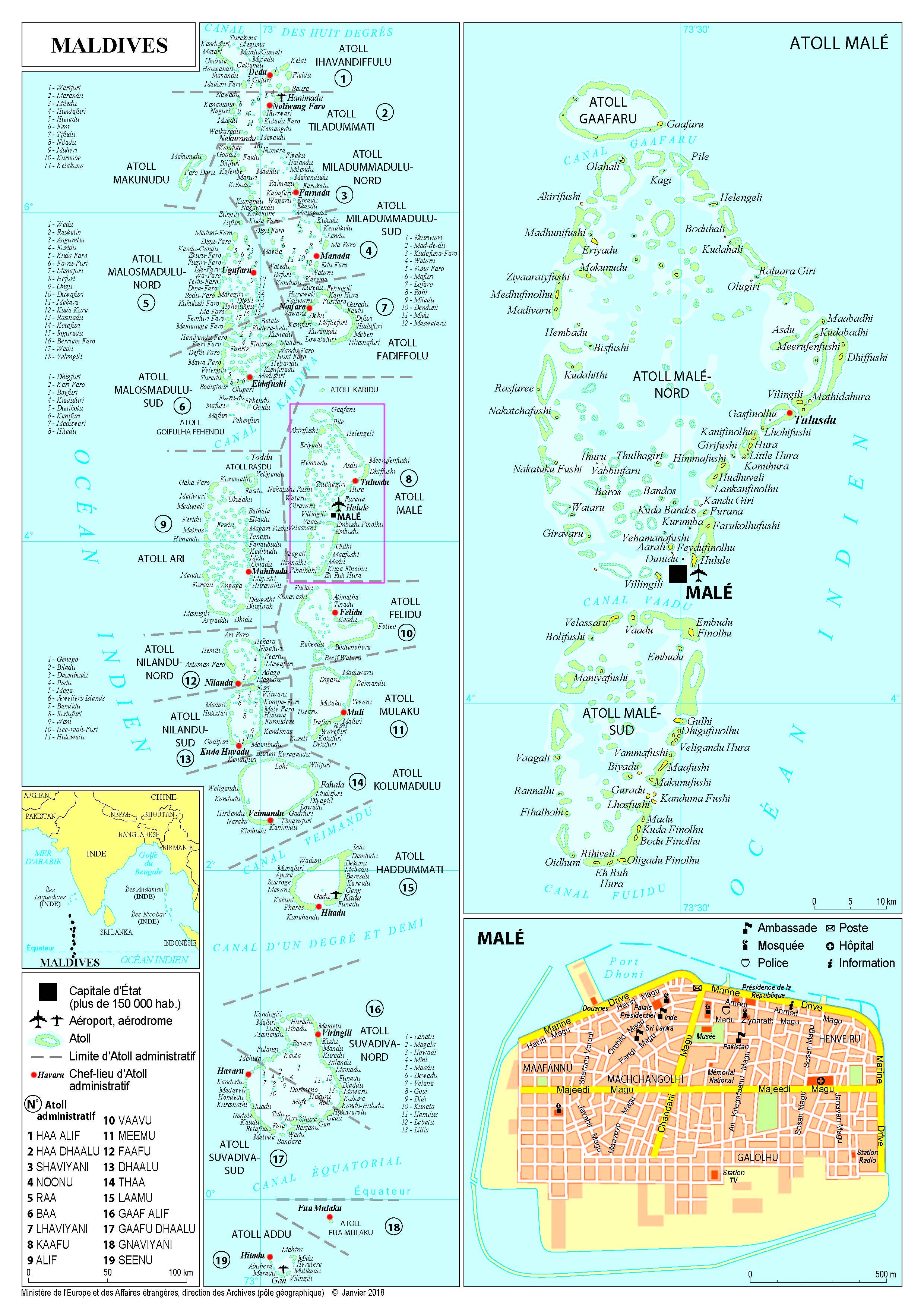 Carte Asie Maldives.Presentation Des Maldives