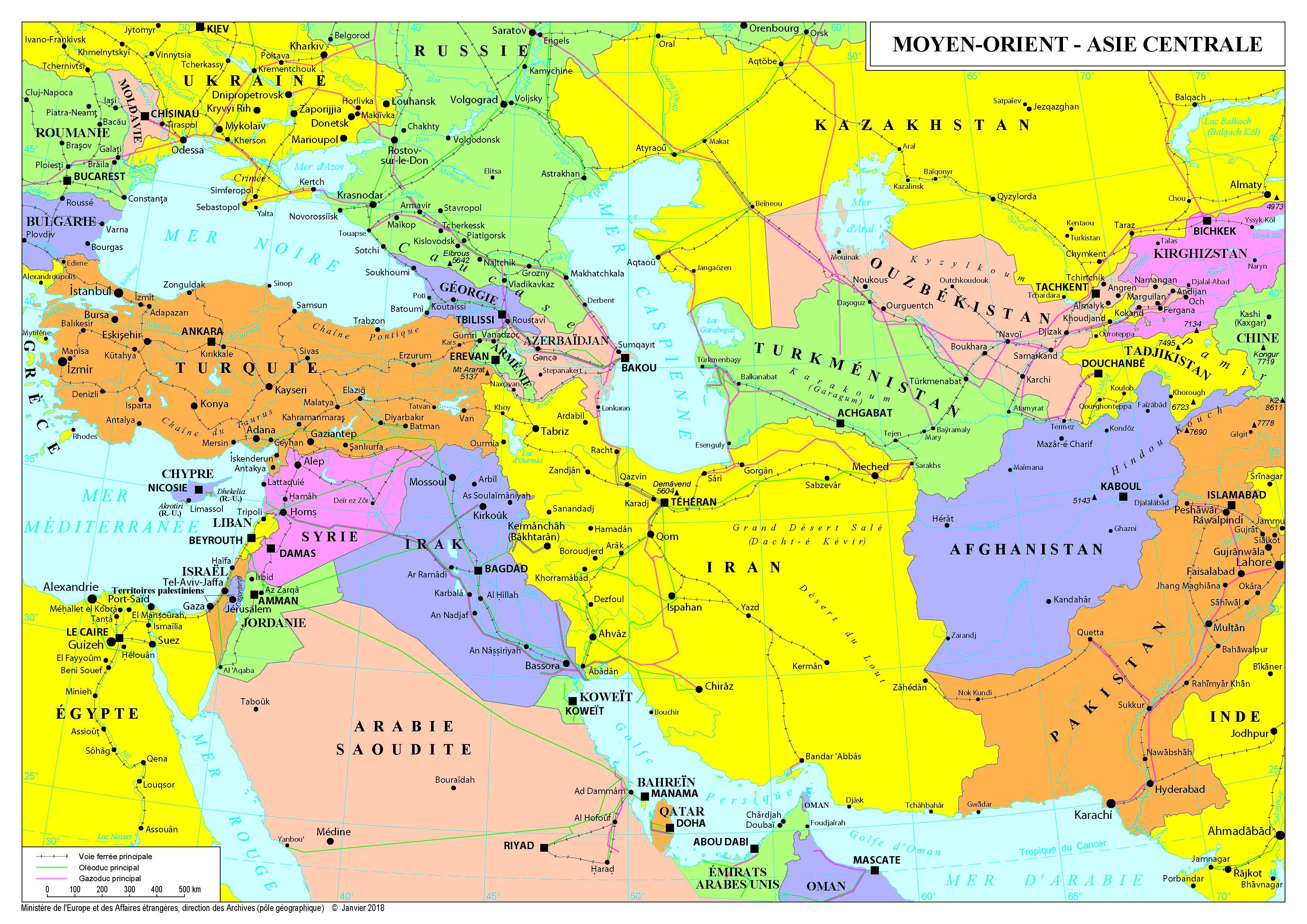 Carte De Leurope Et Moyen Orient.Afrique Du Nord Et Moyen Orient France Diplomatie