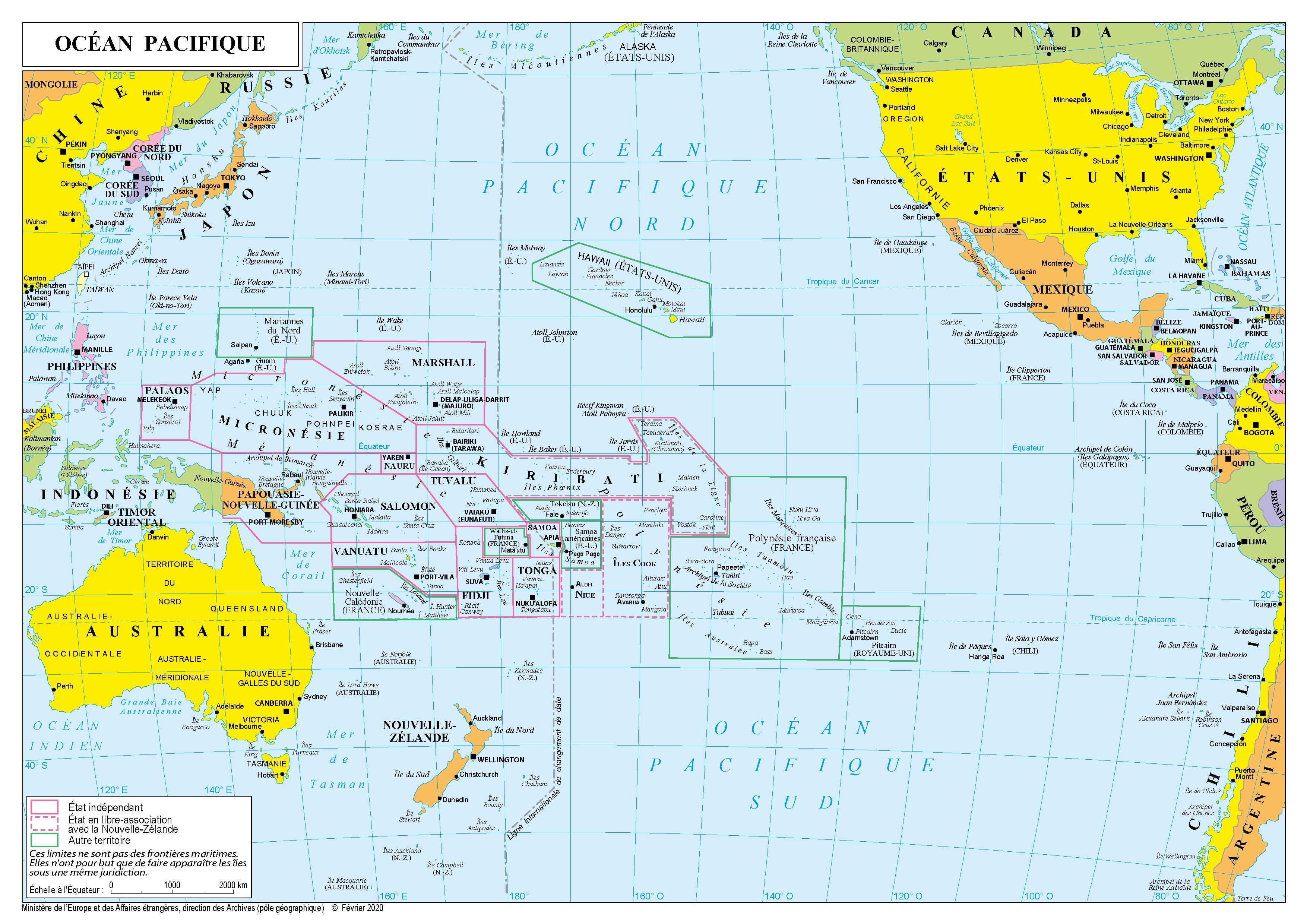 Infos sur : ocean pacifique carte   Arts et Voyages