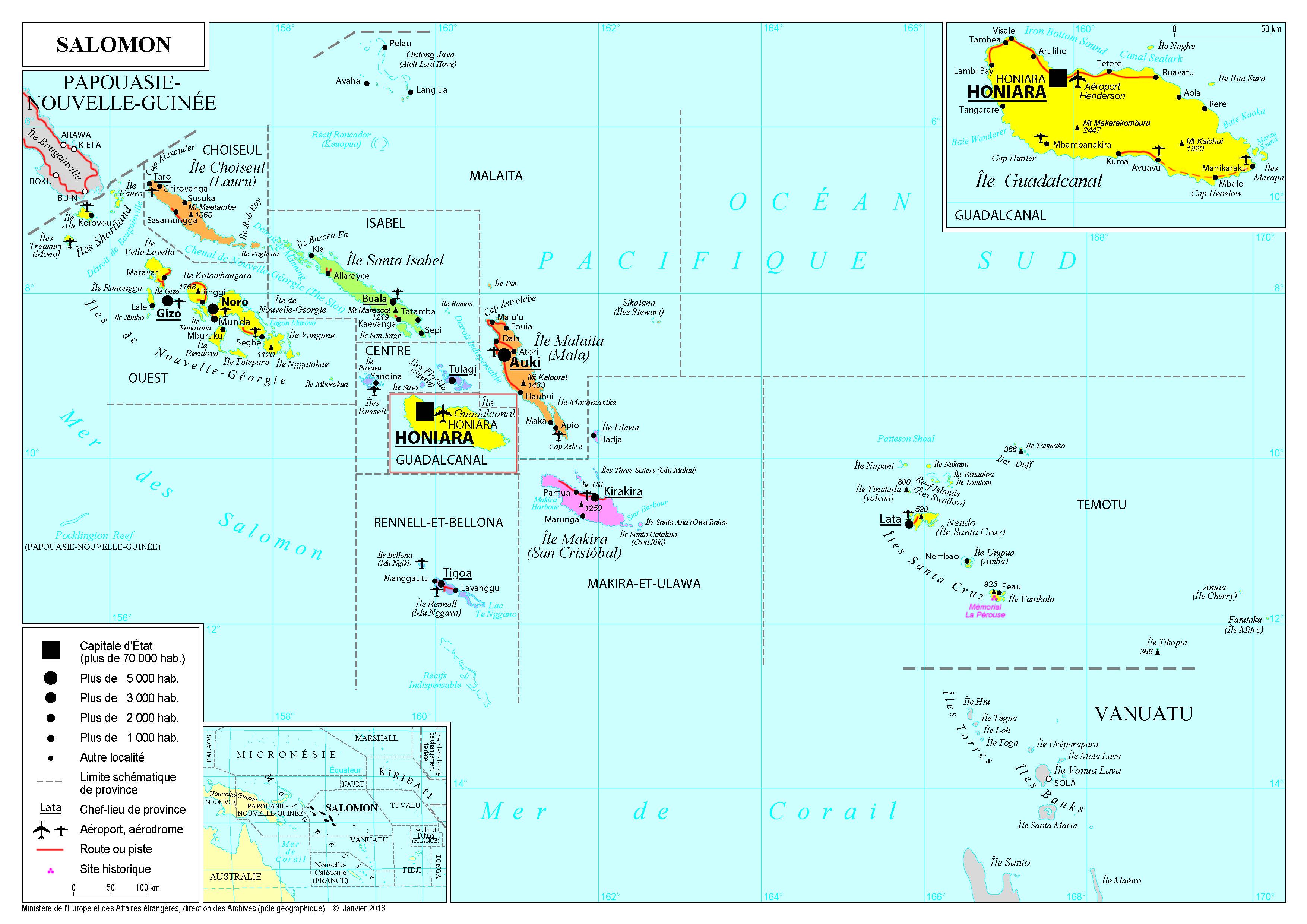Présentation des Iles Salomon Ministère de l'Europe et des