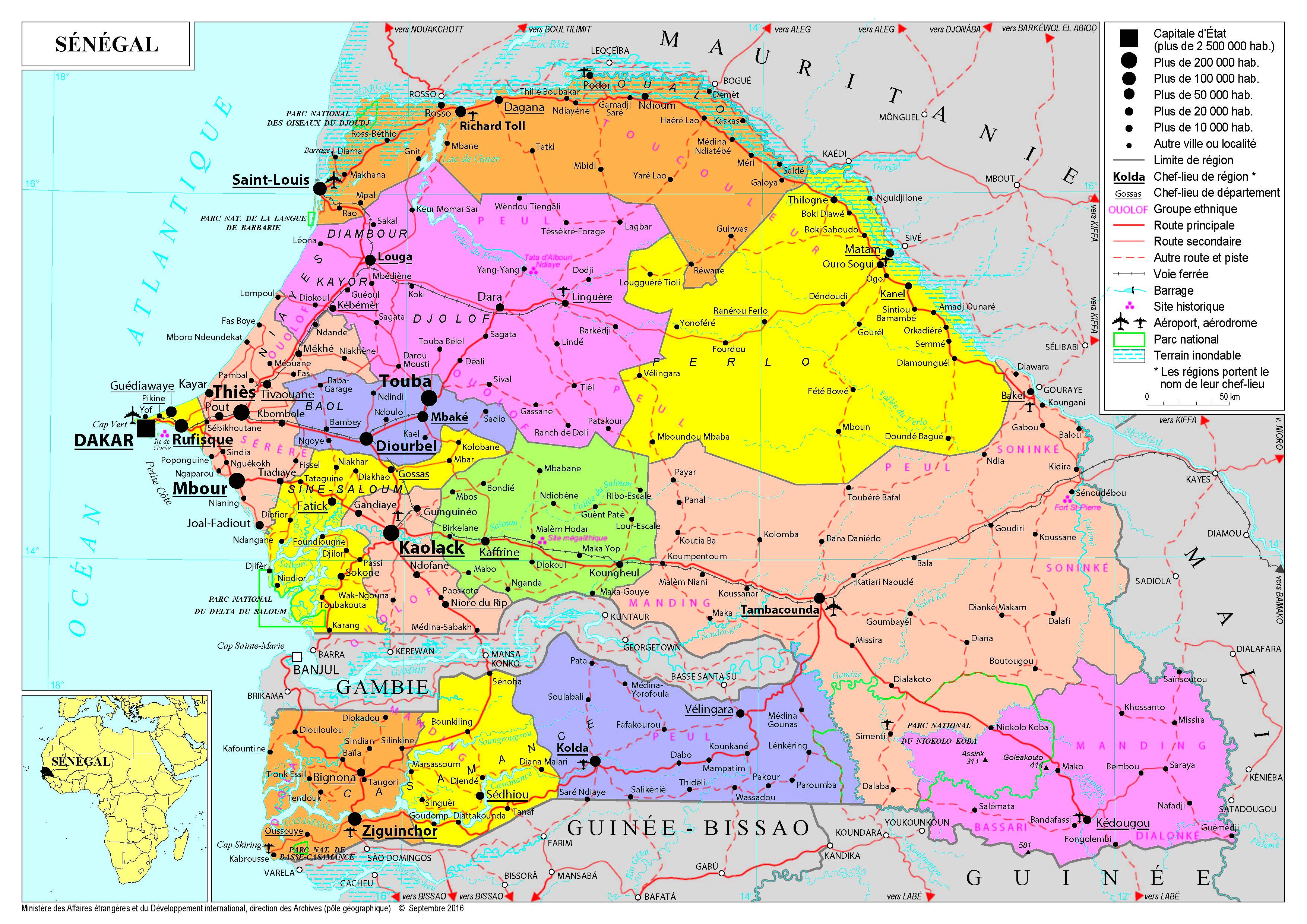 Sénégal carte