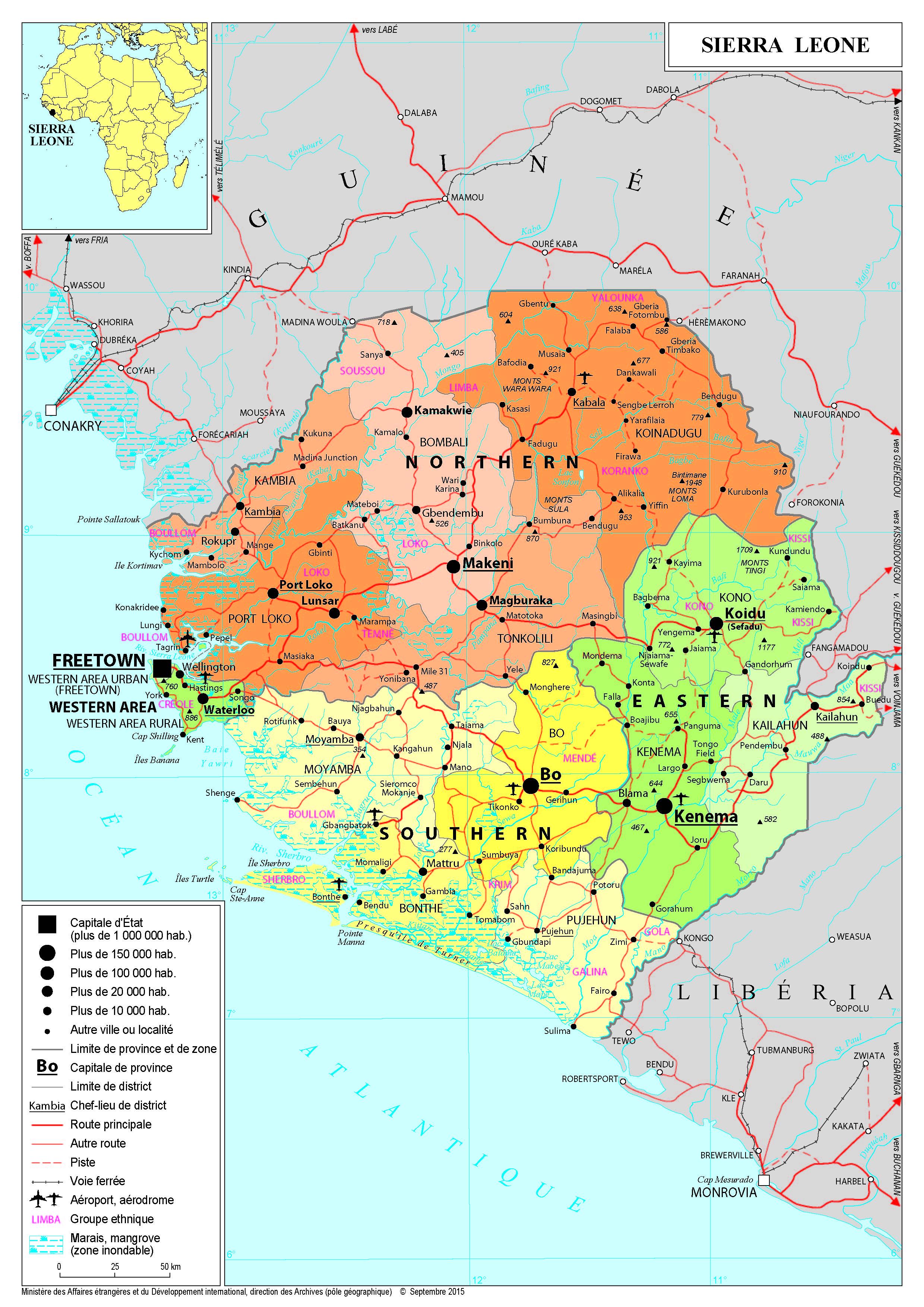Présentation de la Sierra Leone - Ministère de l'Europe et des Affaires étrangères