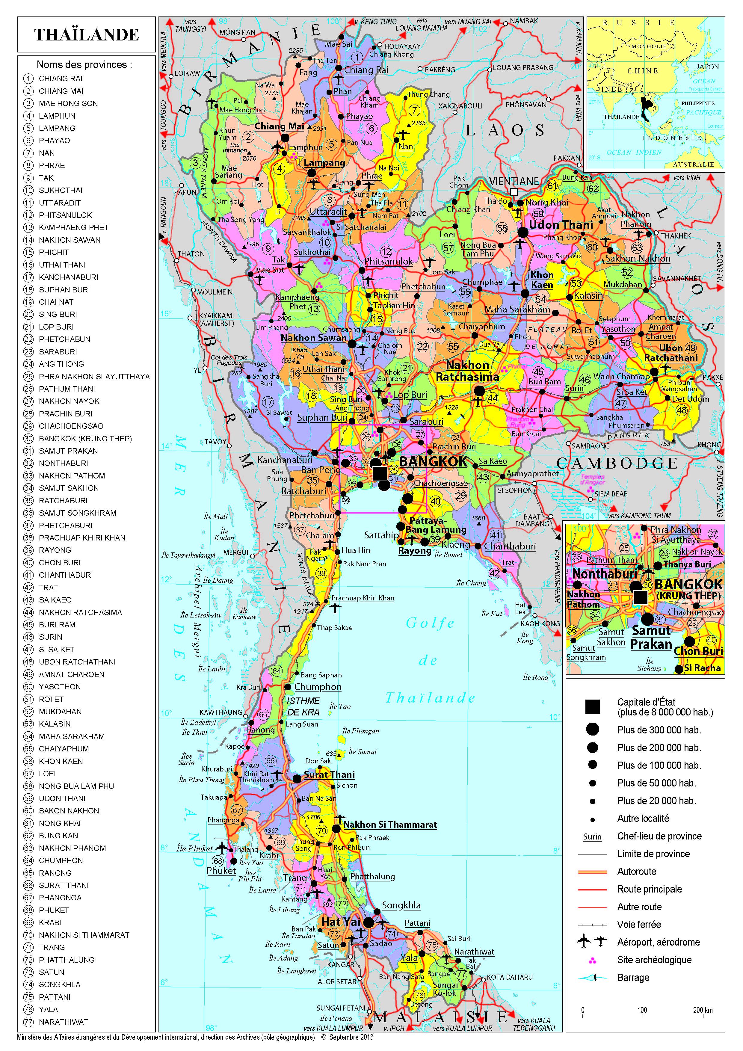 Carte Thailande Imprimer.Presentation De La Thailande