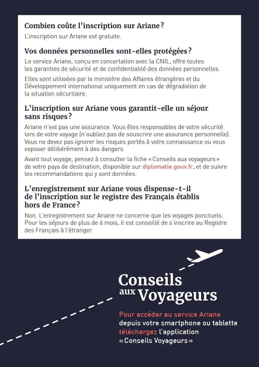 Connexion Ariane France Diplomatie