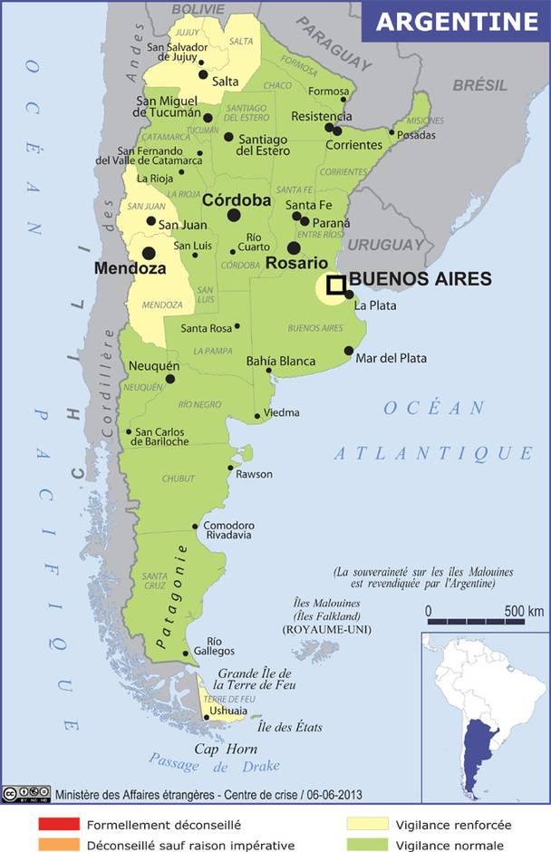 Plusieurs Vols Parfois Avec Violence Ont Ete Signales Dans La Region DEl Bolson Province De Rio Negro Plus Grande Vigilance Est Recommandee Aux