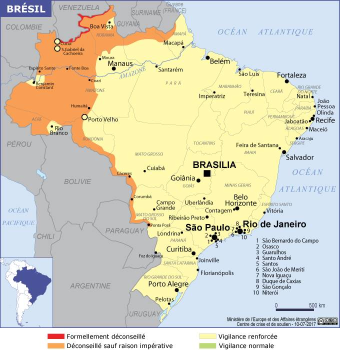 Carte Routiere Nord Bresil.Bresil
