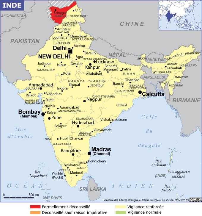 Carte Etats Inde Du Nord.Inde