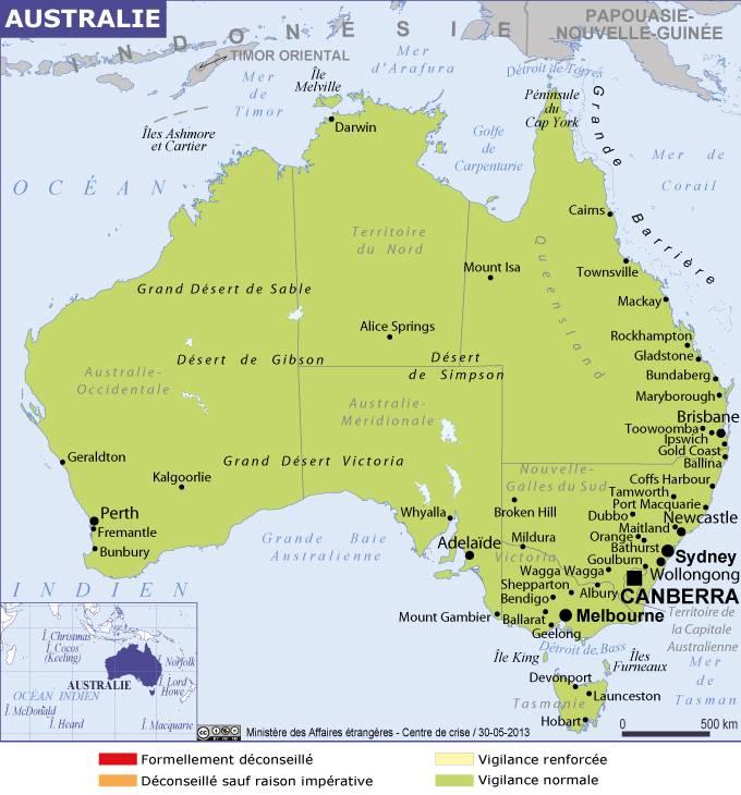 Carte Australie Grande Ville.Australie Australie