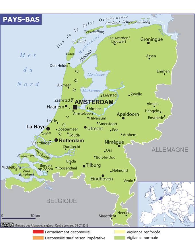 Carte Allemagne Et Hollande.Pays Bas
