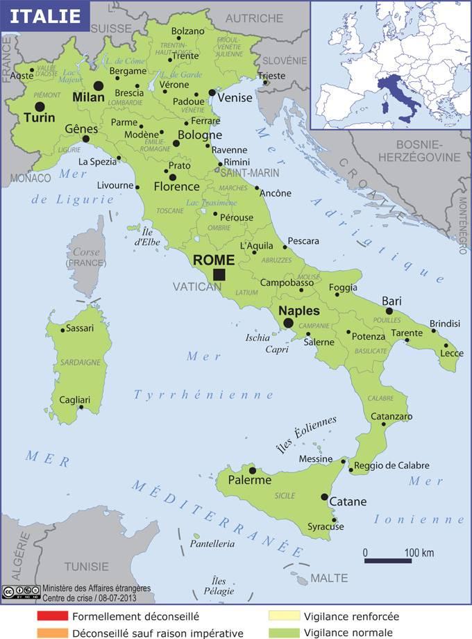 Carte Italie Et Ses Regions.Italie