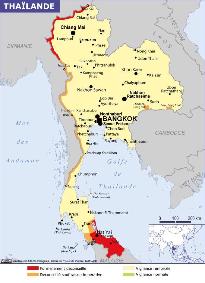 Carte Paludisme Asie Du Sud Est.Conseils Aux Voyageurs Thailande