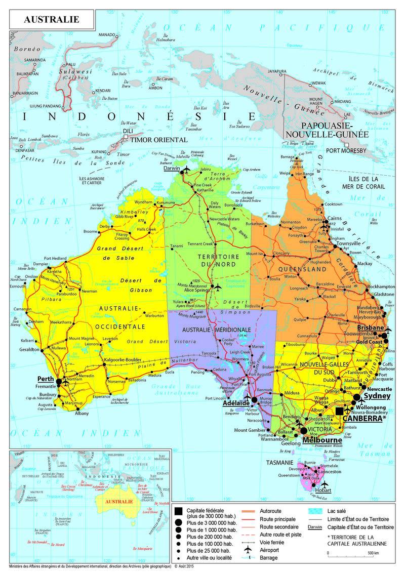 Carte Australie Et Iles Fidji.Presentation De L Australie