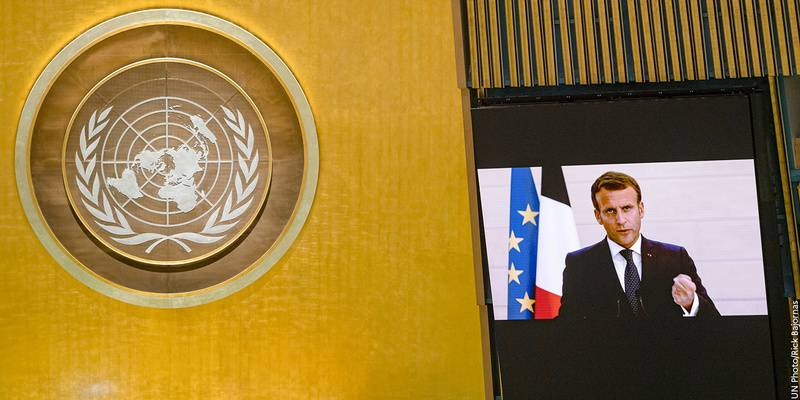 Emmanuel Macron Speaks At Un General Assembly 22 Sept 2020 Ministry For Europe And Foreign Affairs
