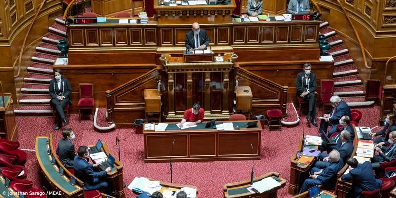 Déclaration de Jean-Yves Le Drian, ministre de l'Europe et des Affaires étrangères, au Sénat (Paris, 12.05.21)