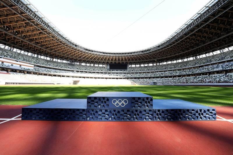 Podium des Jeux Olympiques et Paralympiques Tokyo 2020 : design contemporain, plastique recyclé et impression 3D