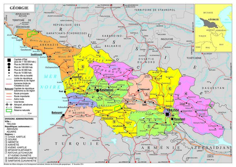 Carte De Leurope Avec Ses Capitales.Presentation De La Georgie