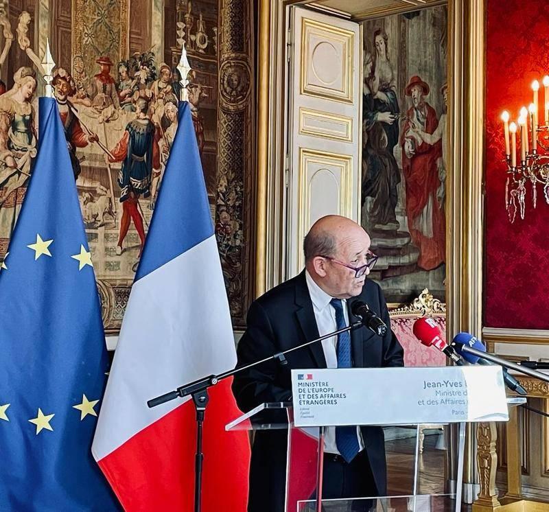 Déclaration à la presse de Jean-Yves Le Drian, Ministre de l'Europe et des affaires étrangères, à l'issue du Conseil des affaires étrangères de l'Union européenne (Paris, 18.05.2021)