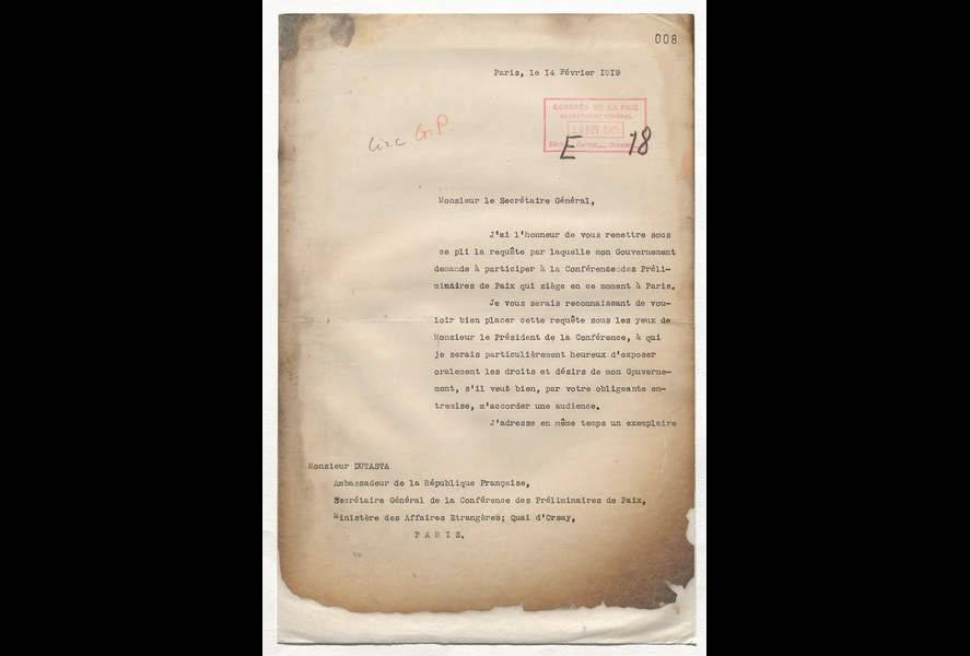 Diplomatic Archives: The Peace Conference (Paris, 18 01 1919